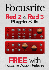 Focusrite Red 2 & Red 3 Plug-In Suite FREE with Focusrite Audio Interfaces