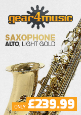 Alto Saxophone by Gear4music, Light Gold