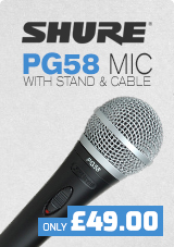Shure PG58 With Boom Mic Stand and Cable only £49.00