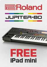 Roland Jupiter 80 Synthesizer with FREE iPad Mini Upon Registration