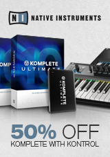 Native Instruments 50% Off Komplete with Kontrol