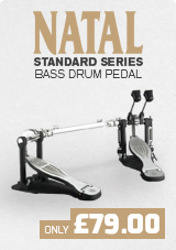 Natal Standard Series Double Bass Drum Pedal, Smooth Cam