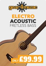 Electro Acoustic Fretless Bass Guitar by Gear4music