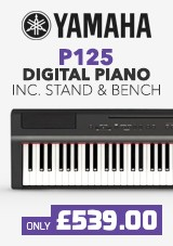 Yamaha P125 Digital Piano X Frame Package, Black